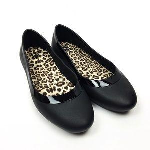 CROCS Lina Luxe Ballet Flat Black Leopard Insole